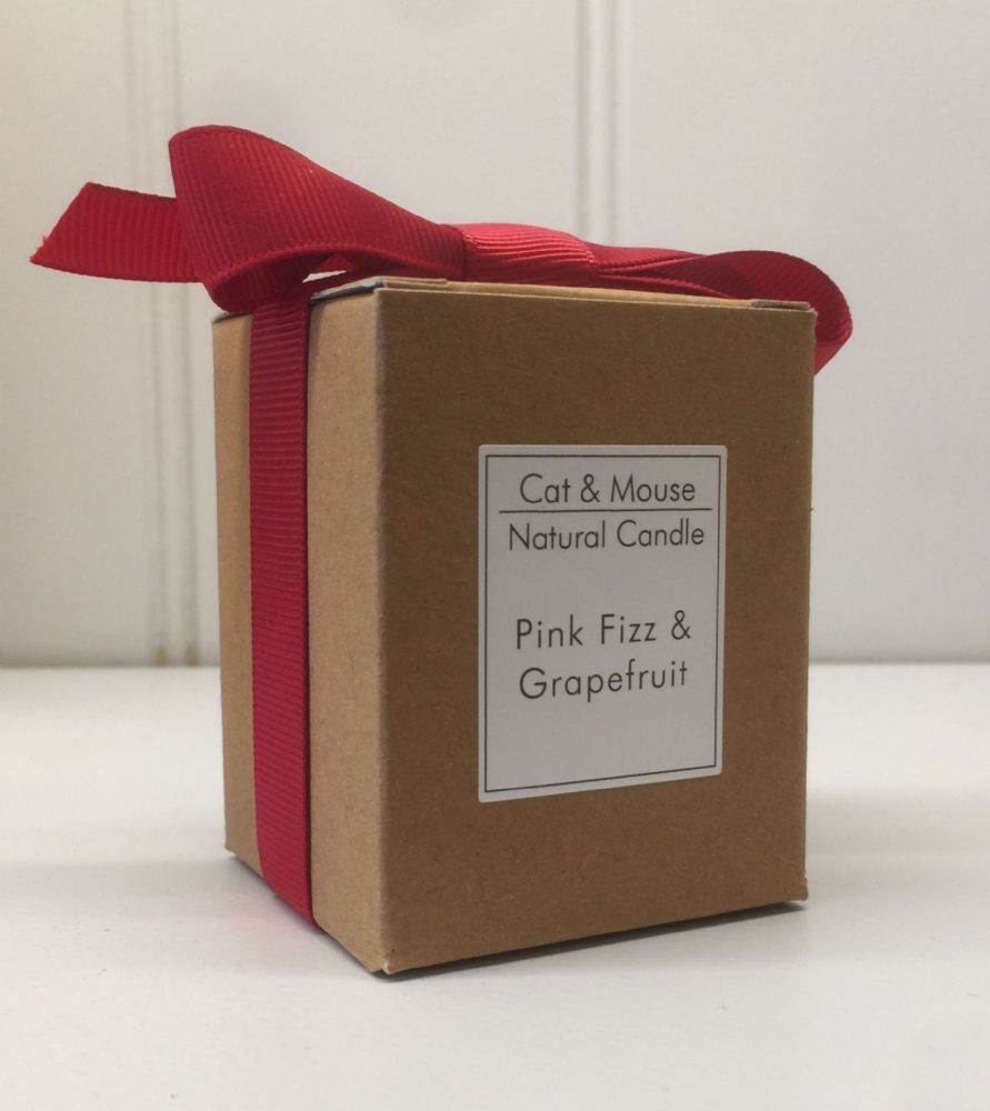 Scented Candle  9cl in a Gift Box - Pink Fizz & Grapefruit